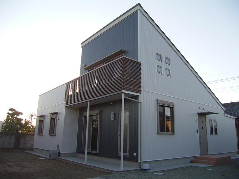 藪塚の片流れ屋根の家